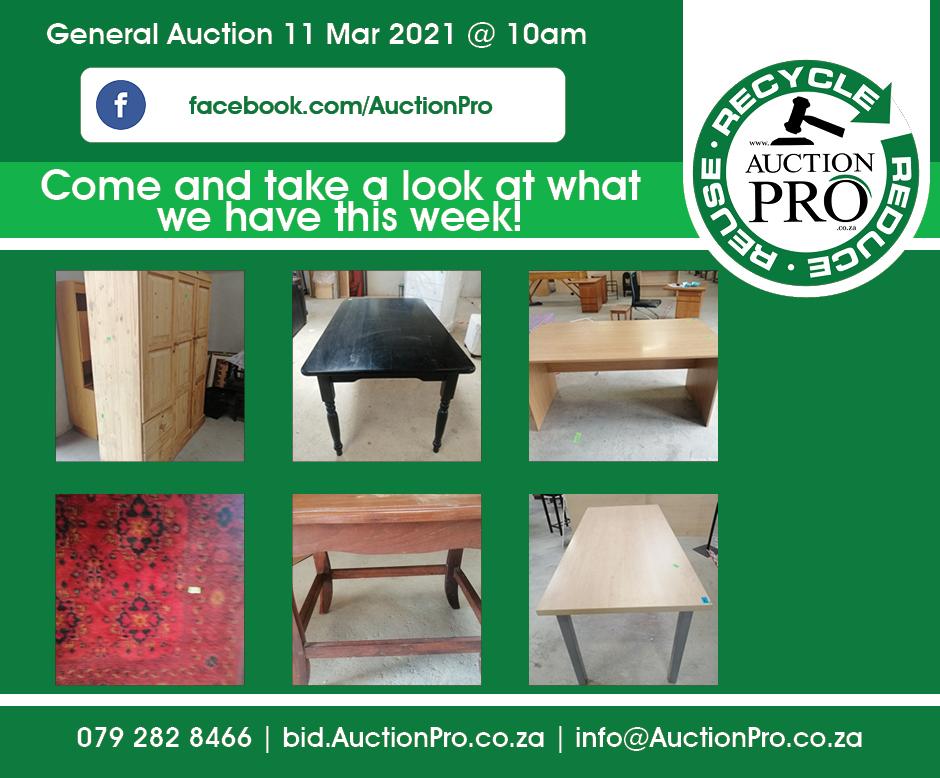 Auction Thurssday 11 Mar